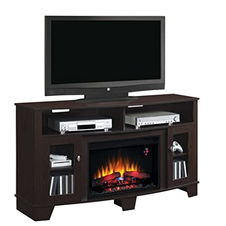 """ClassicFlame 26MM4995-PE91 La Salle TV Stand for TVs up to 65"""", Oak Espresso (Electric Fireplace Insert sold separately)"""