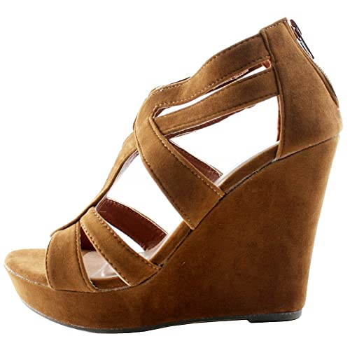 Lindy 66 Strappy Open Toe Platform Wedge