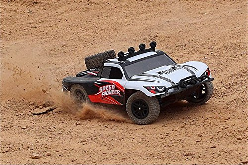 Novcolxya Model Electric RC Racing Car 1/18 Scale Offroad 2.4Ghz Radio Remote control 4WD High Speed 30+MPH Remote Controlled (Color:White) (Rc Trucks 4x4 Waterproof compare prices)