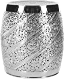 Safavieh Home Collection Eden Nickel Plated Steelworks Etched Iron Stool