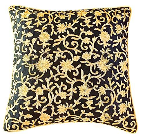the-indian-promenade-16-x-16-inch-dupion-silk-zari-work-cushion-cover-black