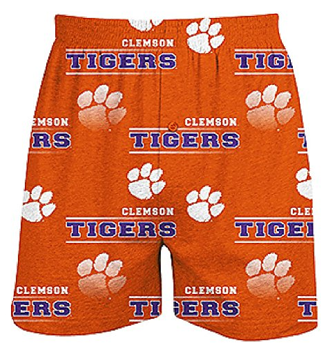 Clemson Tigers Mens Orange Oversized Fusion Boxer Shorts by