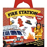 Peaceable Kingdom / Sticker Fun! Fire Station Reusable Sticker Tote