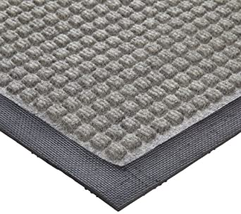 Crown Polypropylene Anti-Slip Wiper/Scraper Mat, for Indoor Dry Areas, Gray