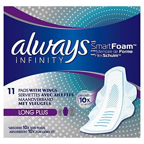 always-infinity-serviettes-hygieniques-avec-ailes-long-plus-11-par-lot
