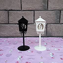 YONG Romantic to marry him couples Pavilion wrought-iron candlestick , white