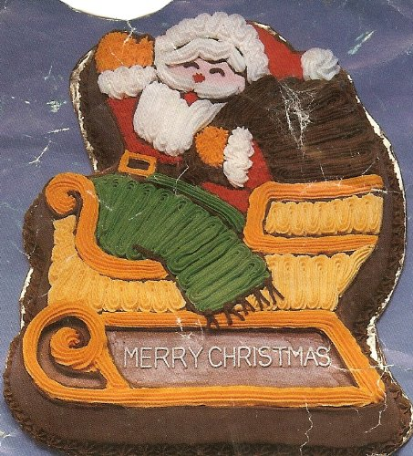 Wilton Santa 'N Sleigh Christmas Holiday Cake Pan (2105-3235, 1984) Retired