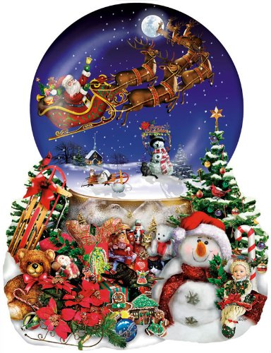Santa's Snowy Ride a 1000-Piece Jigsaw Puzzle by Sunsout Inc.