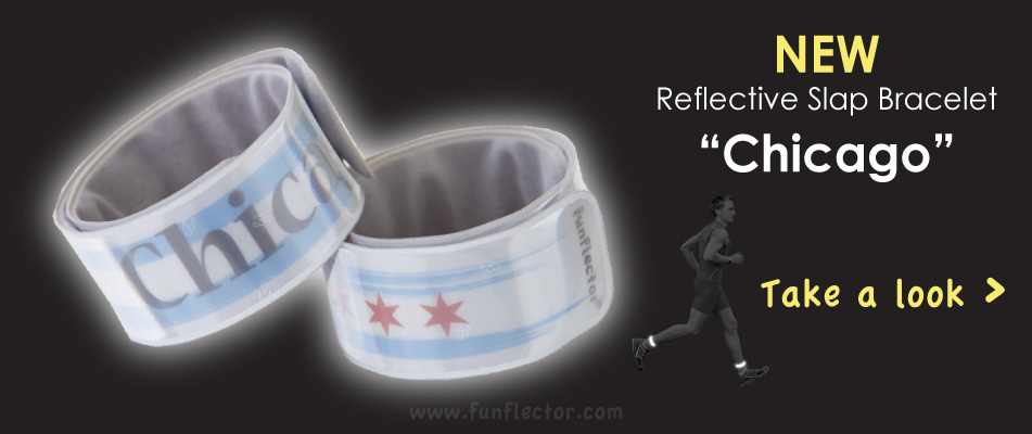 "Reflective Slap Bracelet ""Chicago"""