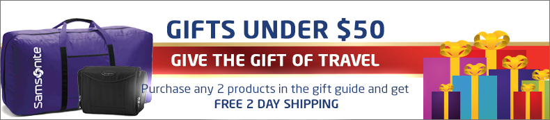 Gifts Under $50. Give the gift of travel. Buy 2 or more and get free 2 day shipping.