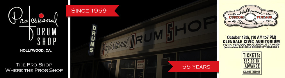 Professional Drum Shop - The Pro Shop Where the Pros Shop