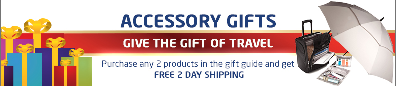 Accessory Gifts. Give the gift of travel. Buy 2 or more and get free 2 day shipping.
