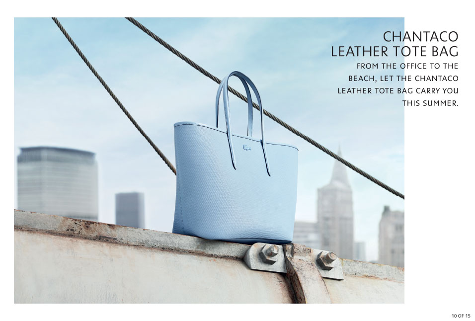 Shop Lacoste: Chantaco Leather Tote bag