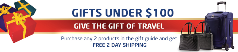 Gifts Under $100. Give the gift of travel. Buy 2 or more and get free 2 day shipping.
