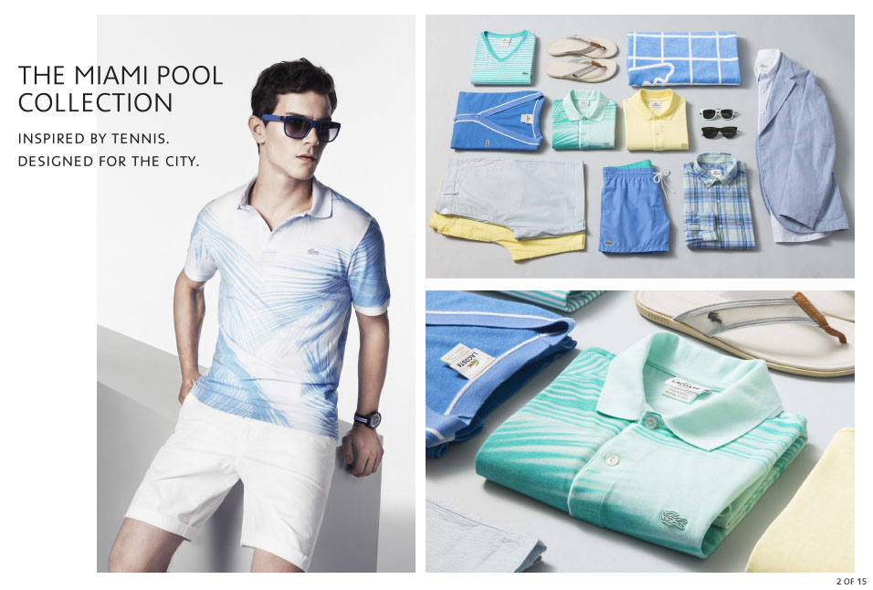 Shop Lacoste: The Miami Pool Collection
