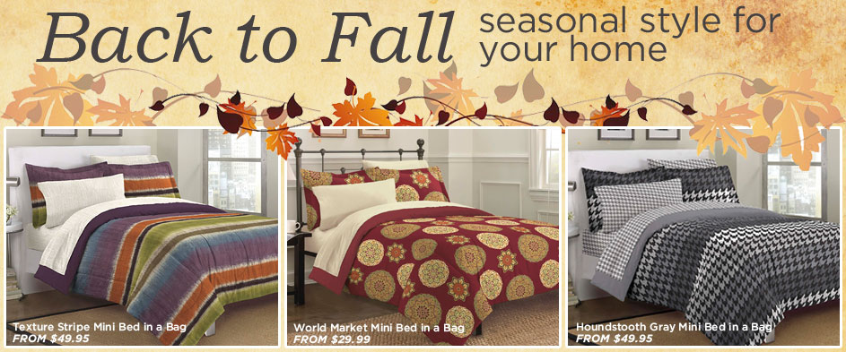 New Fall Bedding