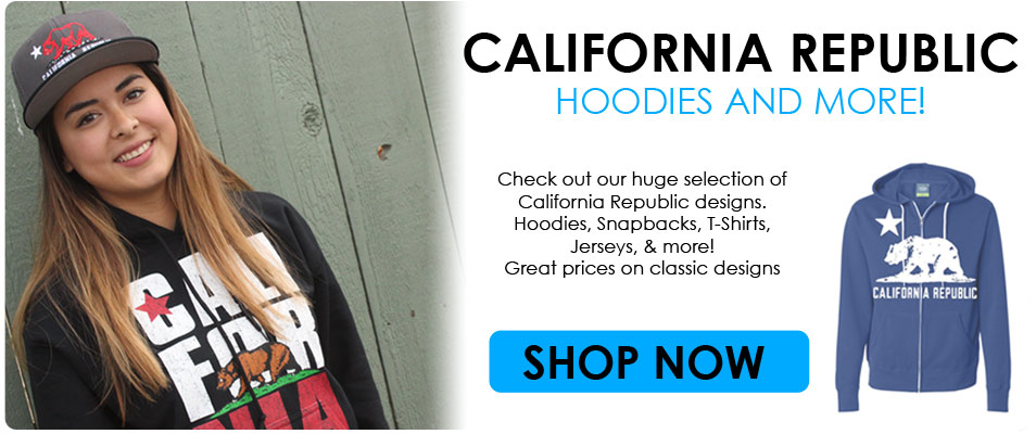 California Republic Hoodies at ShopDolphinShirt.com