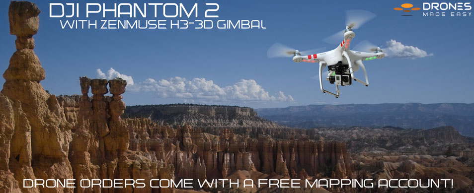 Maps Made Easy Bryce Canyon Phantom 2 Zenmuse H3-3D