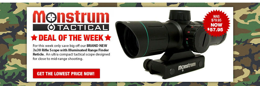 3X30 Rifle scope on Sale!