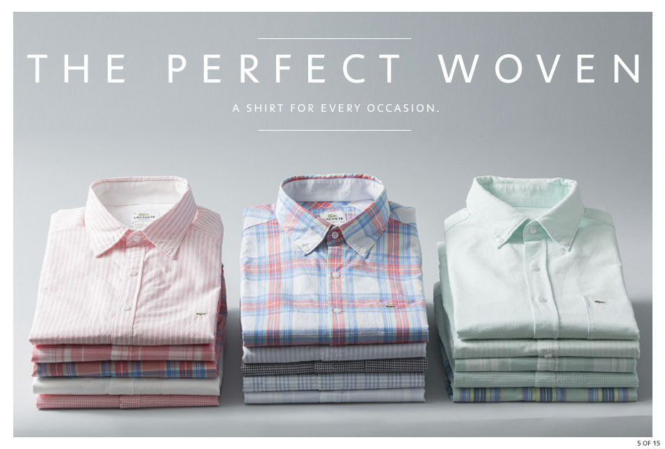 Shop Lacoste: The Perfect Woven
