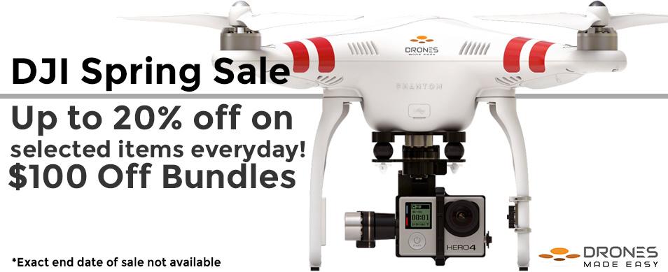 Drones Made Easy DJI Spring Promotion Sale Phantom 2 Vision Plus Ronin S900 S1000
