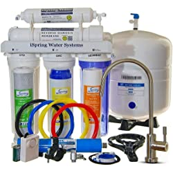 iSpring RCC7 Reverse Osmosis 5-Stage 75GPD Under-Sink Water Filter System