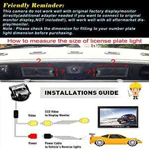 Reversing Vehicle-Specific Camera Integrated in Number Plate Light License Rear View Backup Camera for Mitsubishi Pajero Sport/Montero/Nativa/Dakar/Challenger/Grandis
