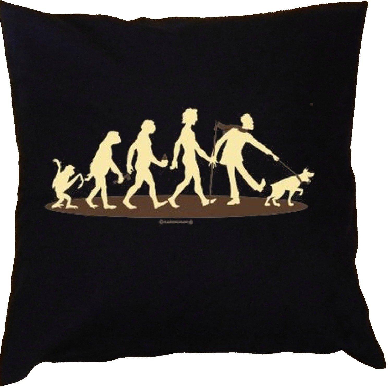 Kissen mit Innenkissen - Homo Stupidus: Hundefreunde - mit 40 x 40 cm - in schwarz : )