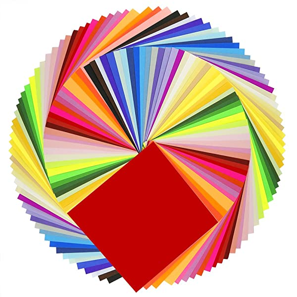 Caydo 50 Vivid Colors 200 Sheets Origami Paper 6-Inch by 6-Inch for Arts and Crafts Projects