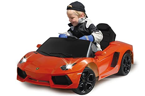 Jamara - 404605 - Maquette - Voiture - Ride On Car - Lamborghini Aventador Lp 700-4 - Orange - 6 Pièces