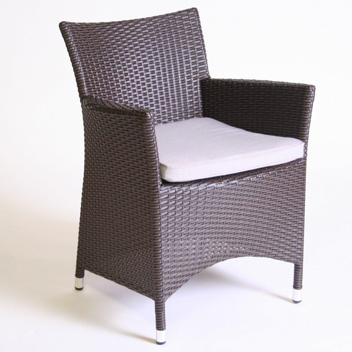Dreams4Home Gartensessel Rattan 'Dafne' braun beige Gartenstuhl Stuhl inkl. Polster , Farbe:Braun bestellen