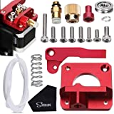 SIQUK MK8 Extruder Upgraded Replacement, Aluminum Drive Feed 3D Printer Extruders Kit for Creality CR-10, CR-10S, CR-10 S4, CR-10 S5, RepRap Prusa i3, 1.75mm(Bonus:1M PTFE Tube and 1Pc Cleaning Cloth)