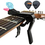 Mr.Power Guitar Capo With Pick Holder For Acoustic Electric Guitar(Color Black) (Color: Black)