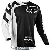 Fox Racing 180 Race Men's Off-Road Jersey - Black/Large (Color: Black, Tamaño: Large)
