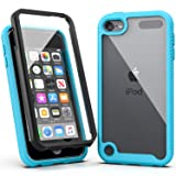 iPod Touch 7 Case,iPod Touch 6 Case,SLMY Armor Shockproof Case with Build in Screen Protector Heavy Duty Shock Resistant Hybrid Rugged Cover for Apple iPod Touch 5/6/7th Generation-Blue (Color: Blue)