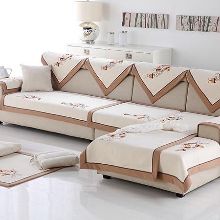 cojines de sofá de algodón de invierno/ toalla de lino sofá de tela/ back bufandas/Estilo chino moderno sofá toalla temporadas slip-A 90x180cm(35x71inch)