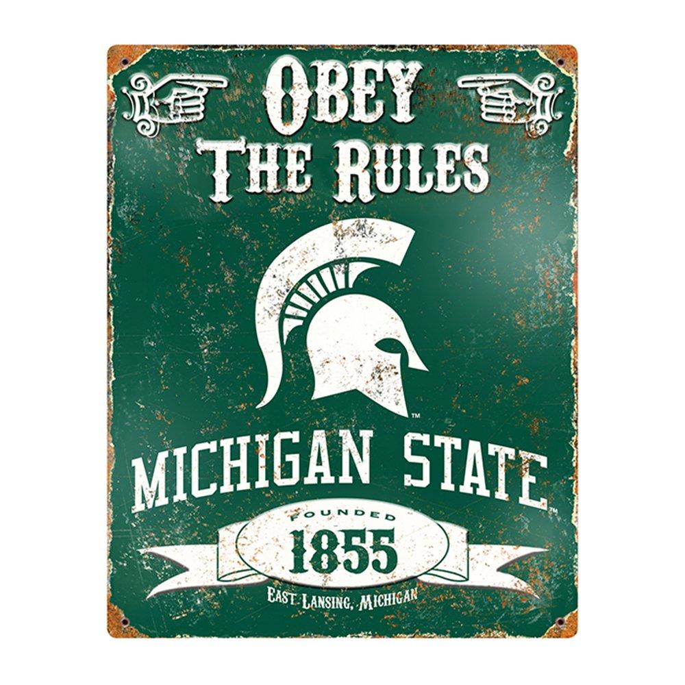 USA Wholesaler - PAR-VSMS - Michigan State Spartans NCAA Vintage Metal Sign senator michigan l 3