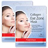 2 Pack Total 60(30 in each pack) Purederm Collagen Eye Zone Pad Patches Mask Wrinkle Care (2 Pack) (Tamaño: 2 Packs)