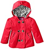 Pink Platinum Baby-Girls Infant Double Leopard Outerwear Jacket