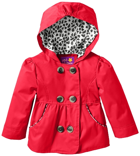 New Pink Platinum Baby-Girls Infant Double Leopard Outerwear Jacket