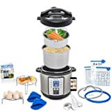 Total Package 9-in-1 Instant Programmable Pressure Cooker, comes with more Accessories than any Instant Pot and Endless Recipes by Yedi Houseware (6 Qt) (Color: Stainless Steel, Tamaño: 6 Quart)