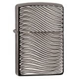 Zippo Curve Armor High Polish Black Ice Pocket Lighter