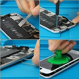 14 in 1 repair replacement cleaning tool kit for phone iPhone x/4/4s/5/5s/6/6s/Plus/7/Plus/8/Plus (Tamaño: 14 in 1)