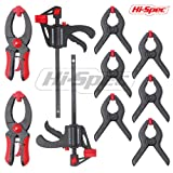 Hi-Spec 10Piece Quick Clamp & Ratcheting Clamp Set Including 2 x 4