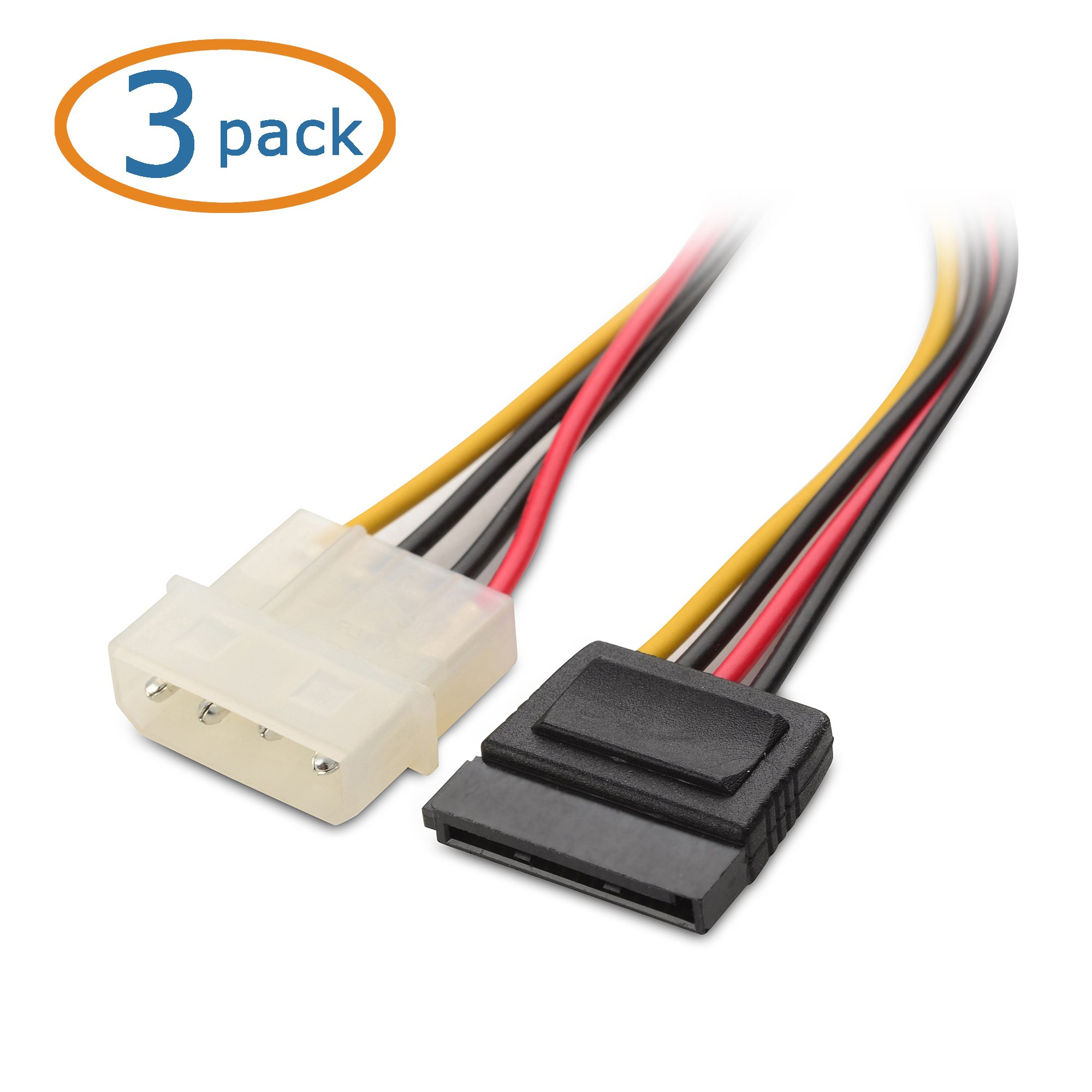 Types Of Sata Cables : Cable matters pack pin molex to sata power