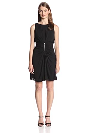 Bailey 44 Women's Dry Point Ruched Waist Dress, Black, X-Small