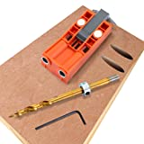 Pocket Hole Jig System With 9.5mm Drill Bits and Square Driver Bit