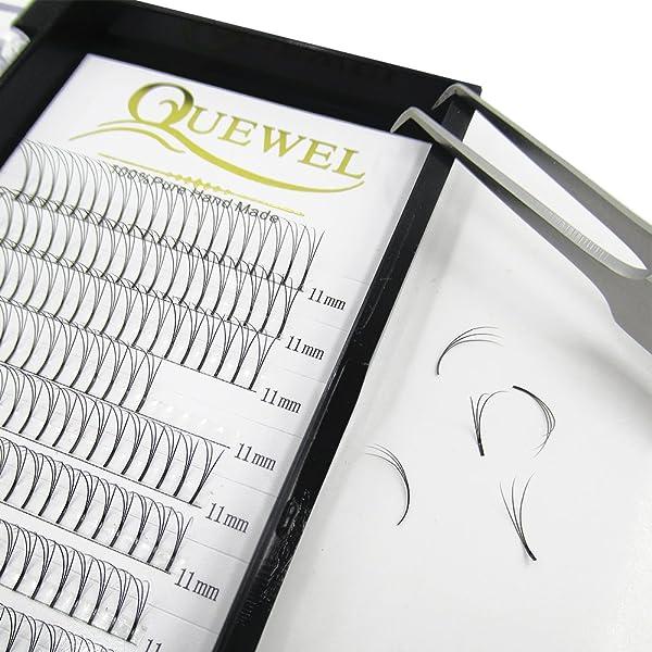 06be131fcf8 Quewel Lash Russian Volume Eyelash Extensions 3D 4D 5D 6D C D Curl 8-15mm  Long Thickness 0.07/0.10 mm Premade Fans ...