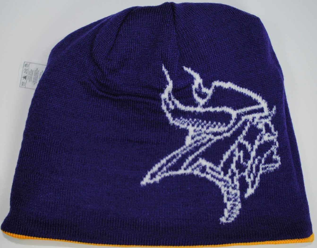 Minnesota Vikings Reversible Team Color Knit Beanie Hat 2016 fashin reversible skullies
