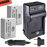 BM Premium 2-Pack Of NB-7L Batteries & Battery Charger Kit for Canon PowerShot G10, G11, G12, SX30 IS Digital Camera Includes Battery + AC/DC Battery Charger (Tamaño: 2 Batteries + Single Charger)